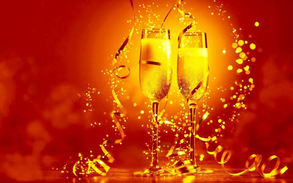 Champagne Rood 2019 Nieuwjaarswensen Kerstwens 2020